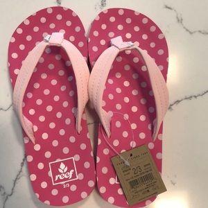 Brand new girls Reef Flip Flops. great for summer